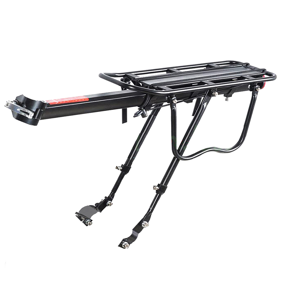 Good deal-Black Bike Bicycle Quick Release Luggage Seat Post Pannier Carrier Rear Rack Fender 52 X 16.5 X 9.5CM bicycle bike aluminum alloy quick release rear back luggage rack black