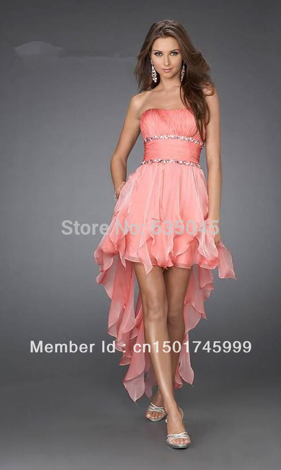 Pink Chiffon Cocktail Dress Promotion-Shop for Promotional Pink ...