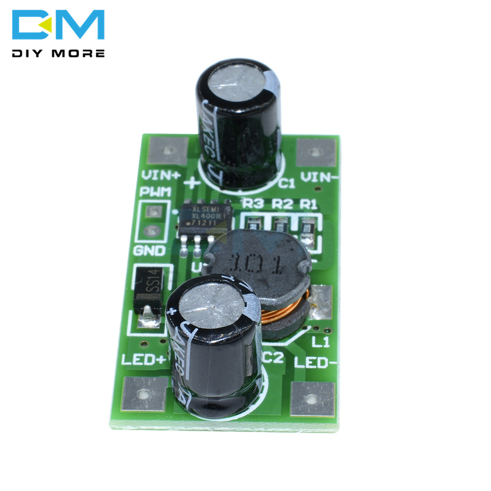 300mA 7W LED Driver PWM Light Dimmer DC-DC Boost Step Up Module 3S-7S LED Strip
