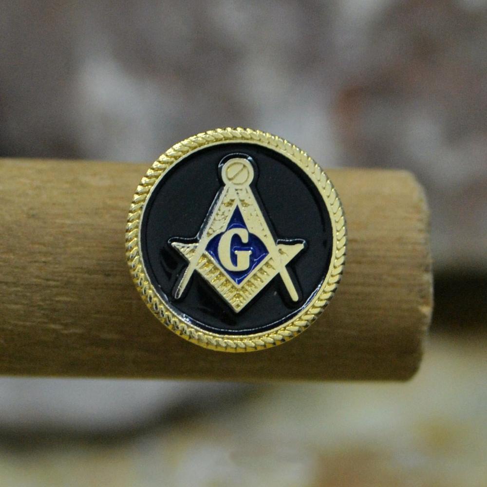 Masonic Lapel Pins Badge Mason Freemason   Black  Round Mason 1.4cm
