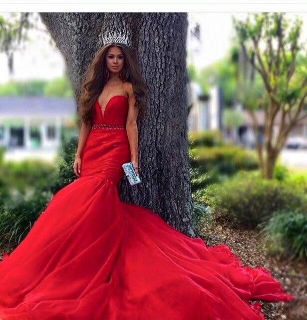 Vestito rosso elegante lungo – Abiti in pizzo f0d57a3b6a9
