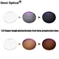 1.61 Super tough Photochromic Digital Free Form Progressive Prescription Optical Lenses With Fast Color Changing Performance