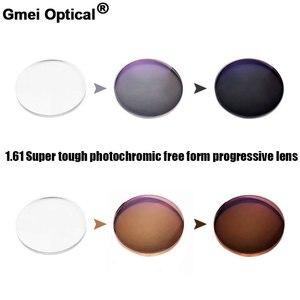 Image 1 - Objectif optique photochromique numérique, Super robuste, Prescription Progressive, avec Performance de couleur changeante rapide, 1.61