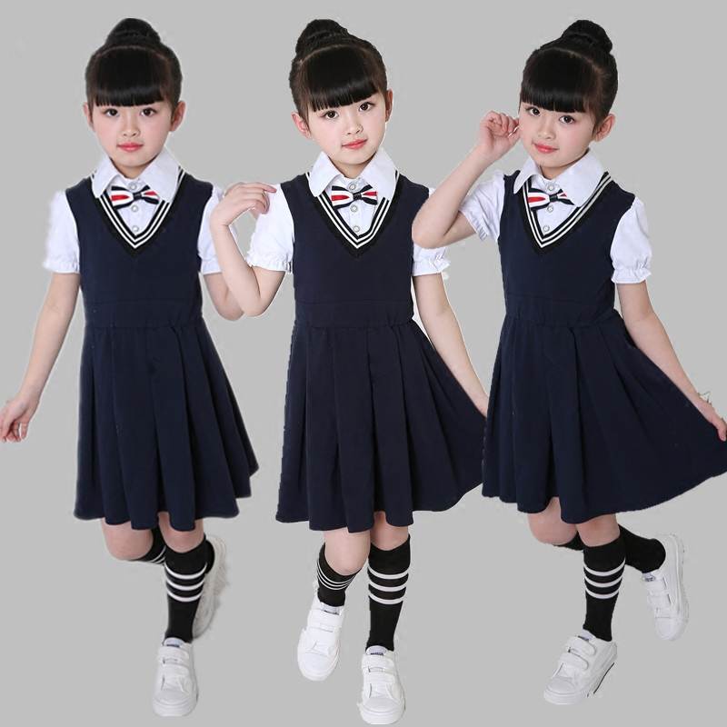 Female school uniforms 2019 new poetry reading performance clothing children chorus costumes children dance clothes girls