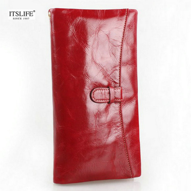 New Fashion 100% genuine leather women's wallet first layer of cowhide big capacity purse for women zipper coin purse wristlet