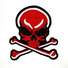 цена на Custom Embroidered patches  Biker iron on patch for clothing backpack factory customize high quality low price