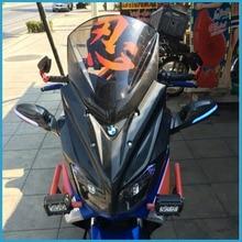 Новый модифицированный мотоцикл лобовое стекло scooter сталь затвердевания ветрового стекла Carbon Fiber Обтекатели Yamaha NMAX155 nmax