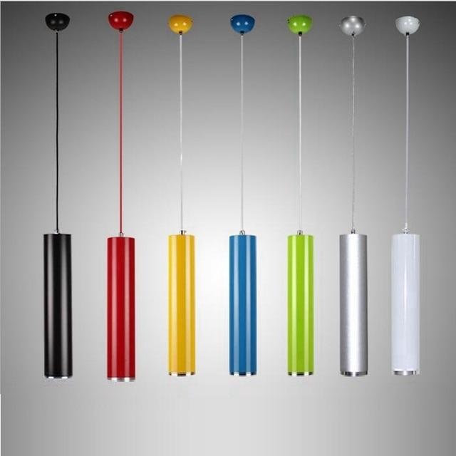 LukLoy Pendant Lamp Lights Kitchen Island Dining Living Room Shop Decoration Aluminum Cylinder Pipe Pendant Lights Kitchen Light