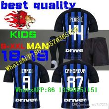 e0df0931b 18 19 Inter ICARDI 9 Milan KIDS Soccer jerseys home PERISIC away third 2019  Jersey football