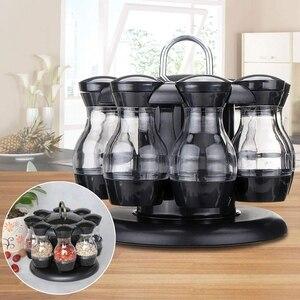Image 4 - Salz Und Pfeffer Schüttler Set Von 8 Flaschen Mit 360 ° Rotierenden Halter Salz & Pfeffer Shaker Set