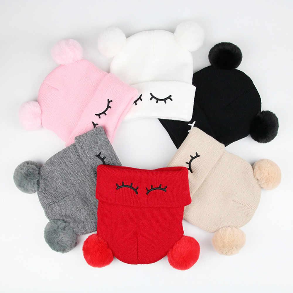 เด็กวัยหัดเดินเด็กชายฤดูหนาวหมวกเด็กทารกฤดูหนาว Warm หมวกคู่ขนสัตว์ถักหมวกเด็ก Beanie หมวก