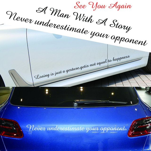 Fashion die cut oem custom made car stickerdie cut vinyl amazr font words car