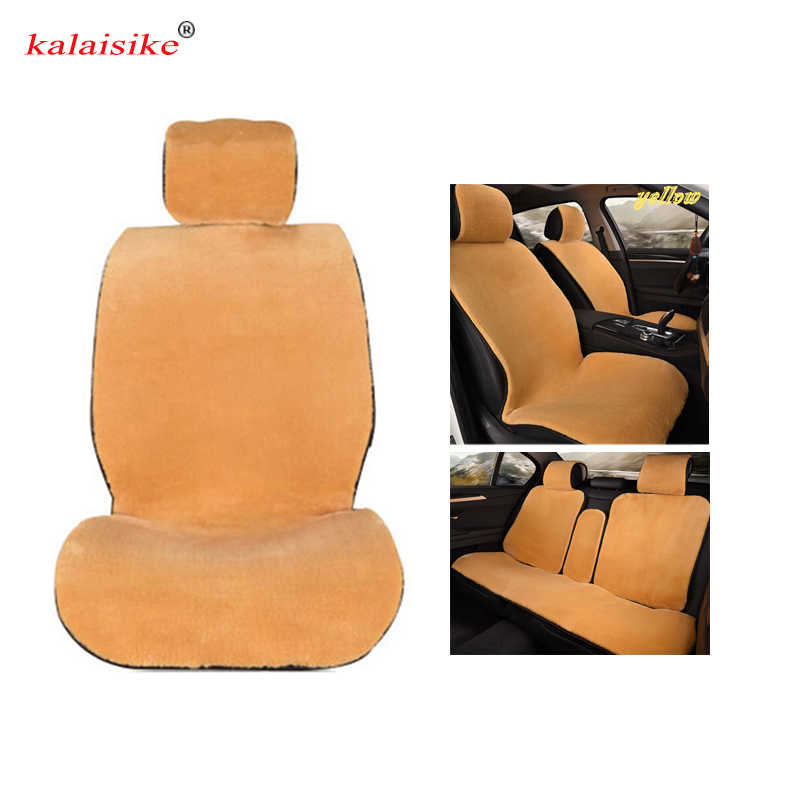 kalaisike plush universal car seat covers for Mitsubishi all models ASX outlander lancer pajero sport pajero dazzle car styling yuzhe linen car seat cover for mitsubishi lancer outlander pajero eclipse zinger verada asx i200 car accessories styling cushion