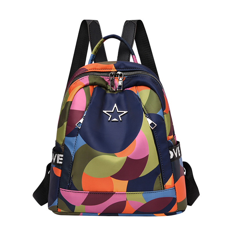 HTB1Sr nNrvpK1RjSZFqq6AXUVXai Casual Oxford Cloth Women Backpack Anti Theft Girls Schoolbags Teenager Travel Daypack Shoulder Bag Colorful Fashion Back Pack