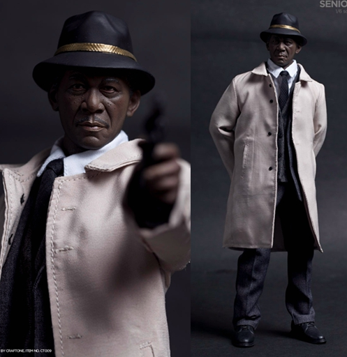 1/6 scale figure doll Se7en Detective Lt. William Somerset Morgan Freeman.12 action figures doll collectible. not include chair 1 6th collectible figure doll se7en detective morgan freeman