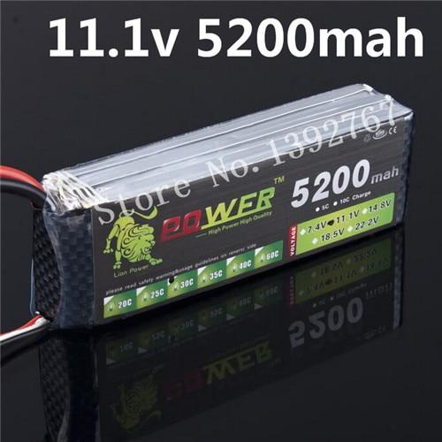 Lipo Lipoli li-po Lion puissance 11.1 v 3 S 5200 mah 30C-40C 3S1P batterie 156A ampères décharge continue