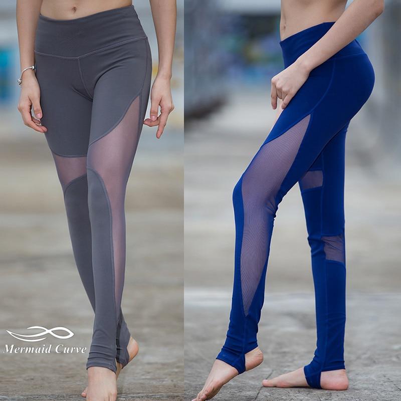 Hi Curves Fitness Leggings Reviews: Mermaid Curve Women Sport Fitness Leggings Elastic Gym