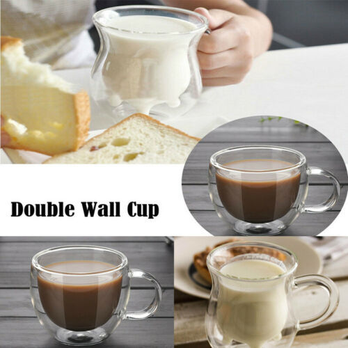 Ultra-low price limited to top 50 Hot Double Wall Cup Coffee Glass Tea Mug Insulated Mugs Espresso Cups Wine Beer