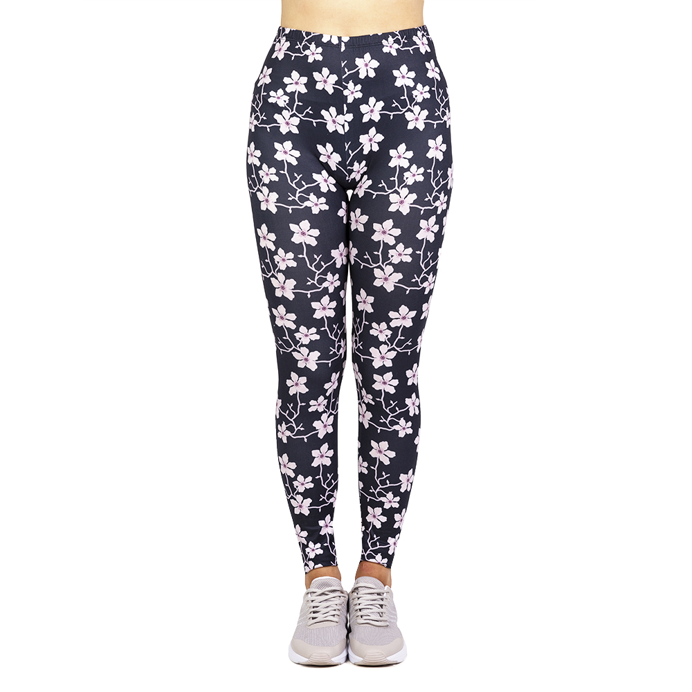 Fashion leggins mujer Blossom Printing   legging   feminina leggins fitness Woman high Waist Pants workout   leggings