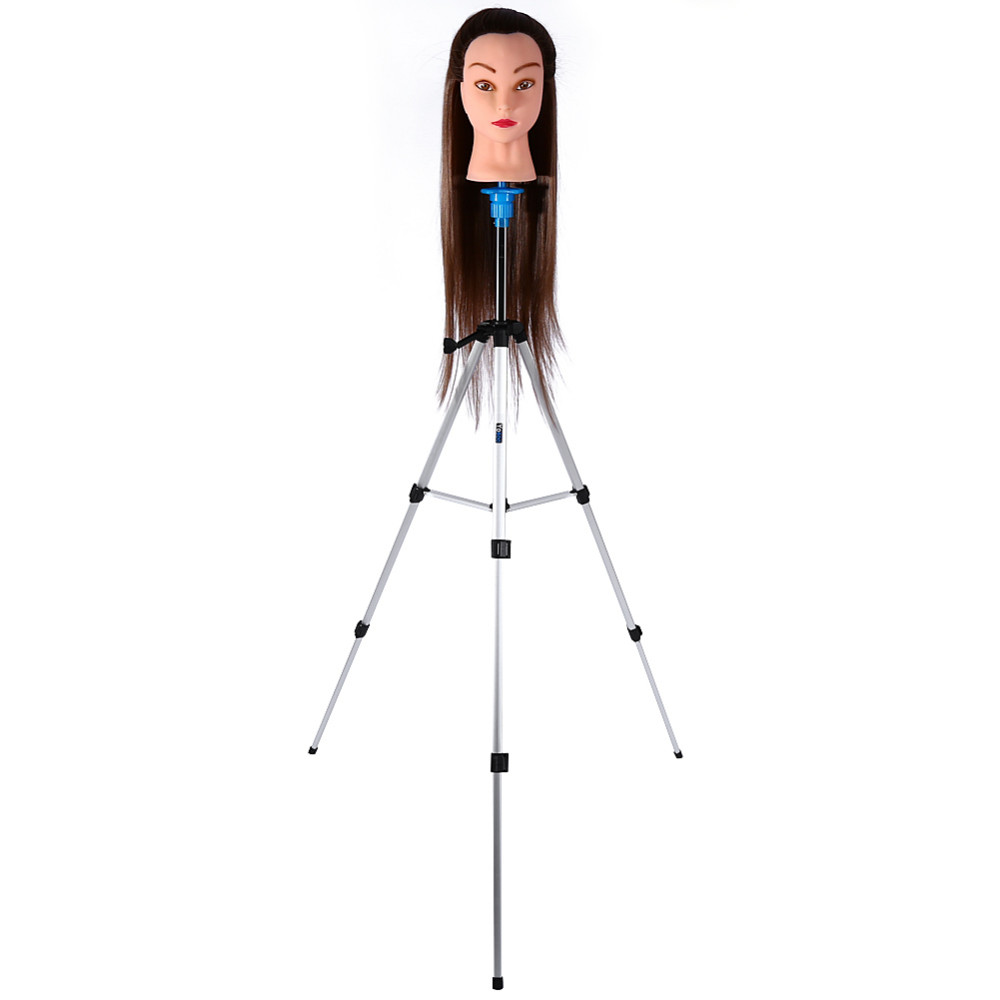 New 55 Adjustable Tripod Stand Salon Hair Cosmetology Mannequin Training Head Holder Hairdressing Practicing Head with Clamp steel mannequin tripod stand hair salon adjustable tripod wig stand hairdressing training head clamp holder