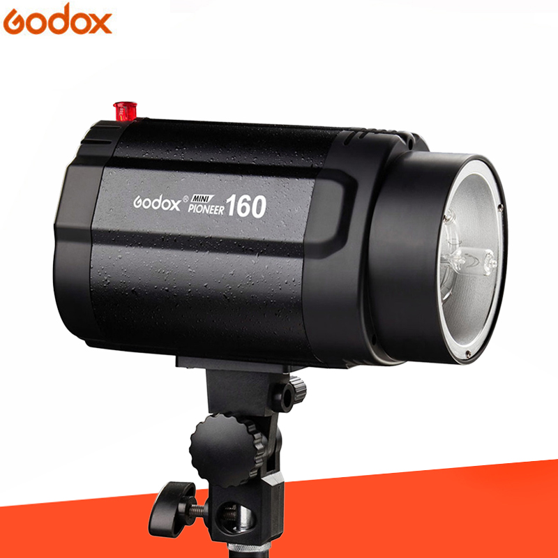 GODOX 160WS 160W Pro Photography Photo Studio Flash Strobe Lighting Lamp Head godox mini studio flash strobe 160 max power 160ws universal digital mount gn43 recharging time 0 5 2s for photo accessories