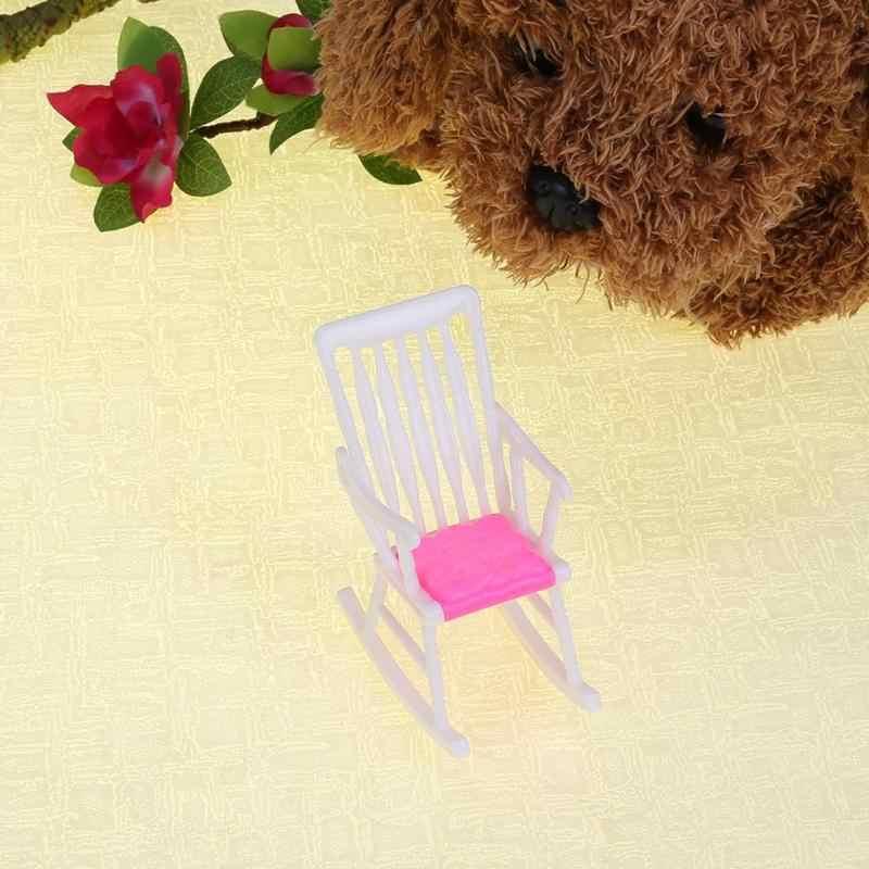 1 قطعة البسيطة دمية كرسي متأرجح ل إكسسوارات دمي دمية منزل زخرفة الأثاث دمية غرفة الديكور الأطفال الفتيات اللعب