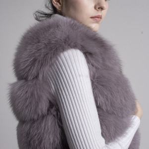 Image 5 - QIUCHEN PJ8049 2020 New arrival Hot Sale real Fox Fur Vest Authentic Fashion Perfect With High Heels Quality Solid