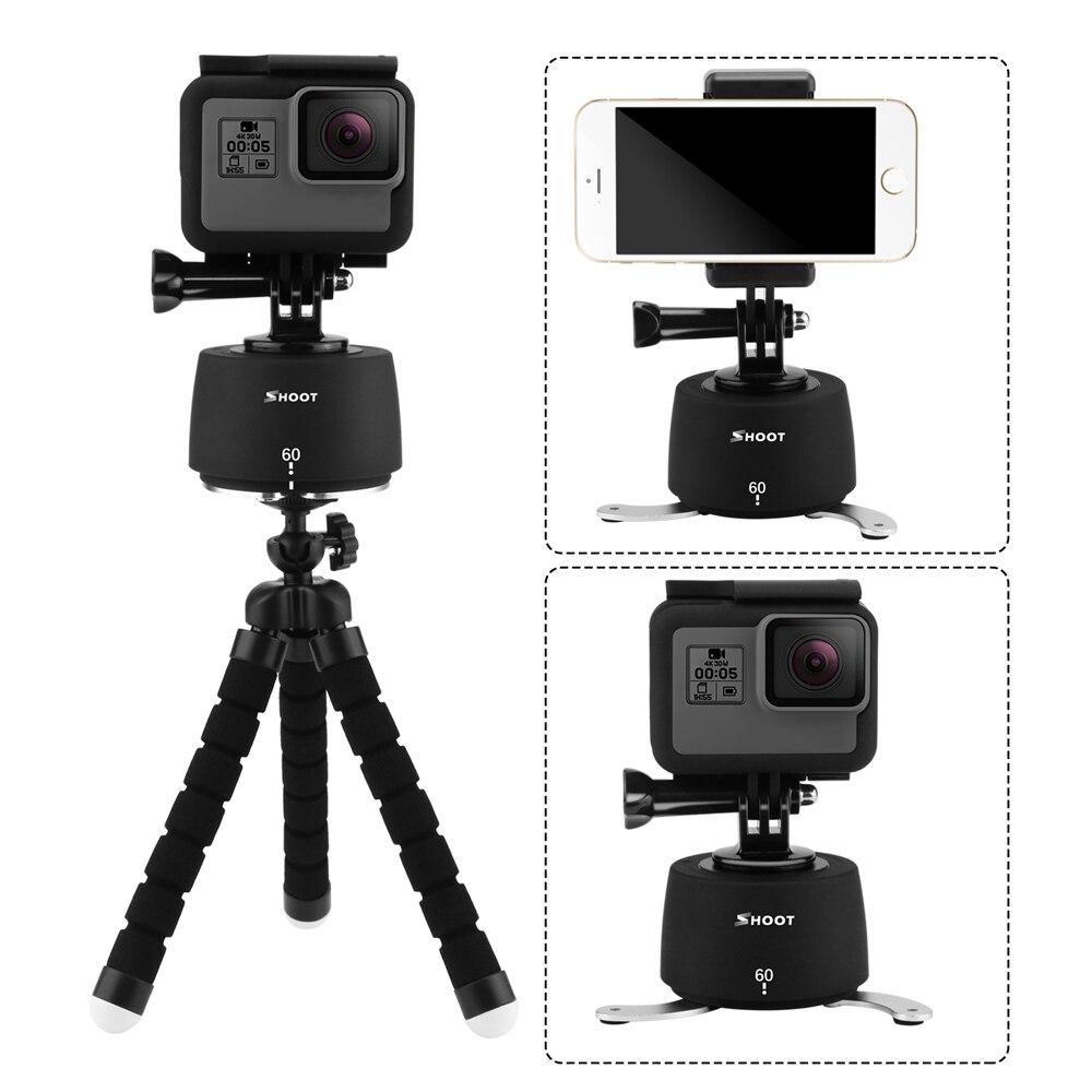 SPARARE 360 Rotazione Time Lapse Testa Treppiedi per Gopro Hero 5 6 4 SJCAM Eken Yi 4 K Fotocamera dslr con Polpo Treppiedi per Cellulari telefono