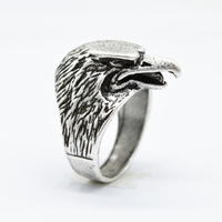10 unids Diseño Eagle Talisman Amuleto Anillo Para Mujeres Hombres Anillo de La Joyería Punky Anillo Símbolo de Tronos Nórdico Vikingo RG138