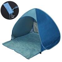 빠른 자동 개방 해변 텐트 태양 쉼터 UV 보호 텐트 네일 방수 팝업 오픈 야외 캠핑 낚시