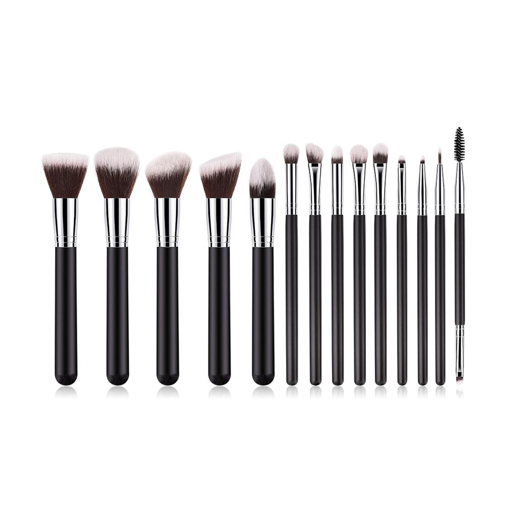 14 PCS Per Set  Foundation Brush Eyeline Brush makeup brush set high quality carry soft make up brushes kit tools