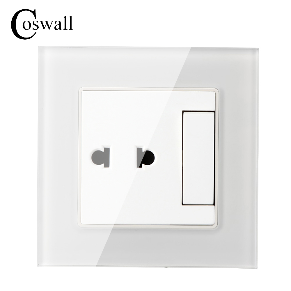 Universal 2 Hole Wall Socket 1 Gang 2 Way Light Switch With Led Indicator Coswall Usb Charging Port For Mobile Phone