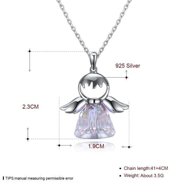 5179455e387f9 New Guardian angel Crystal from Swarovski 925 sterling silver fashion  jewelry Wholesale Fashion Jewelry Woman Name Bead