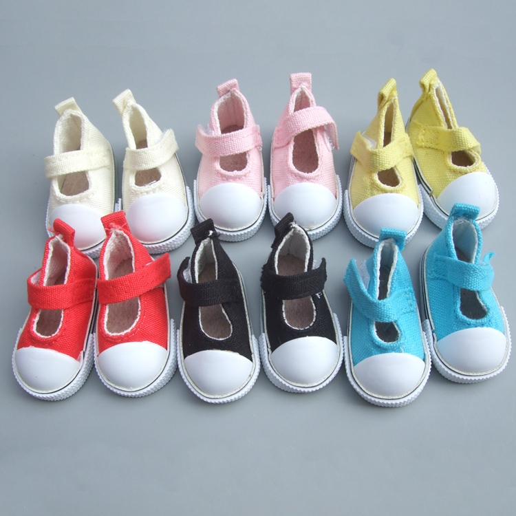 5 Cm Doll Shoes Denim Canvas Mini Toy Shoes1/6 Bjd Sneackers Boots For Russian Diy Handmade Doll