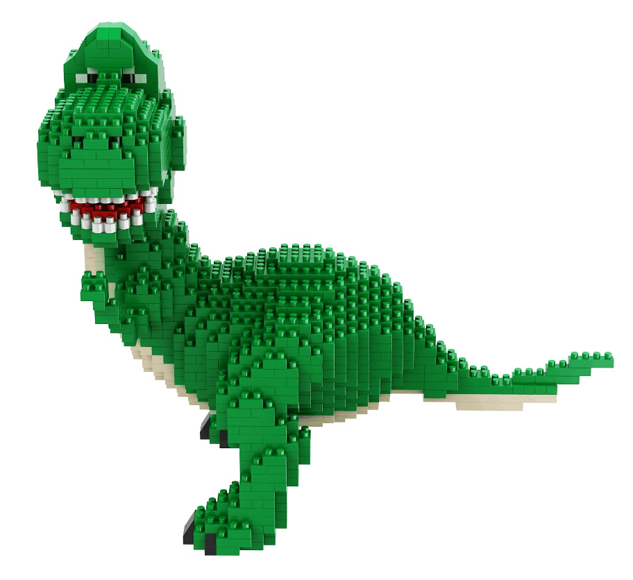 Image 3 - Mini Blocks Big size Cartoon Model Aliens Building Toy Anime Auction Figure Micro Brick Brinquedos Toys for Children Xmas Gift 8801-in Blocks from Toys & Hobbies