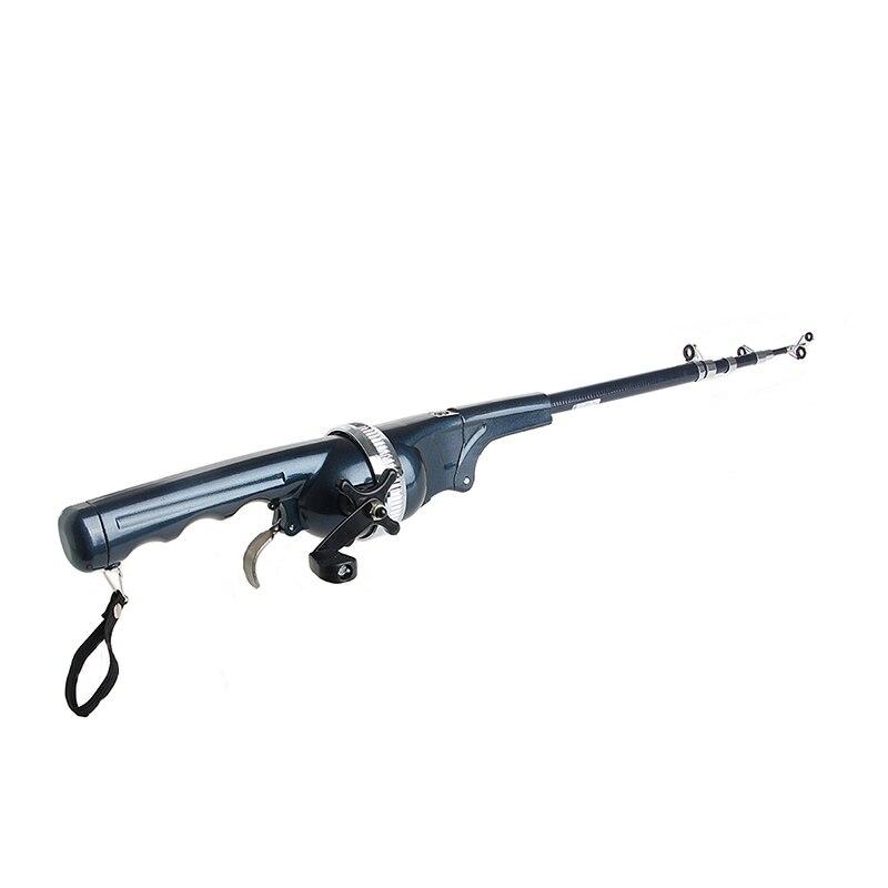 1Pc 1.3m Portable pliant canne à pêche mer hiver hiver canne à pêche canne à pêche Mini télescopique canne à pêche accessoires