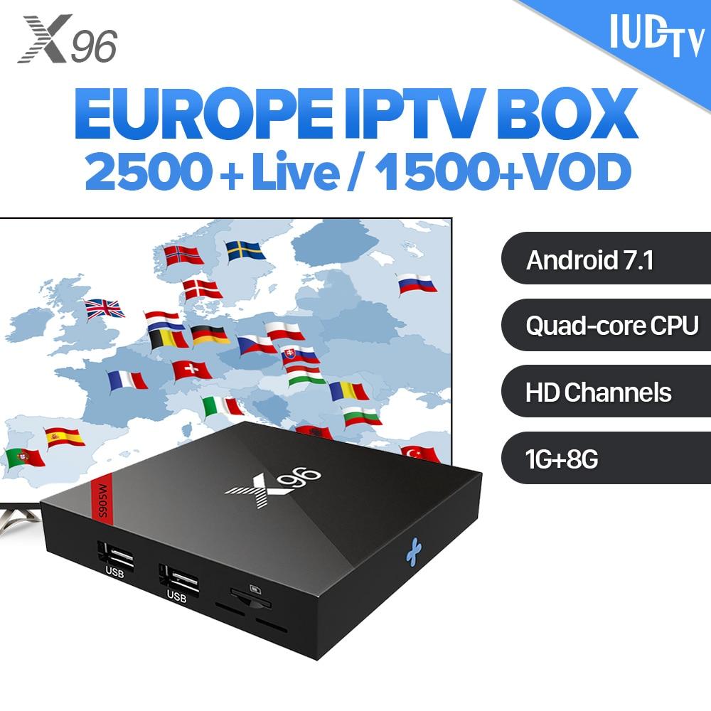 X96 IPTV Spain Box Android 7.1 4K HD WiFi IPTV Smart Media Player IUDTV Subscription IPTV Spain Italy Sweden Arabic IP TV Box dalletektv 4k android 6 0 smart tv box hd 1080p 2 4g wifi streaming iptv box iudtv iptv abonnement french europe arabic iptv box