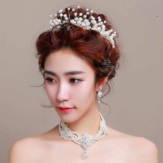 Glamorous Floral Chapéus 2017 Novos Pérolas Coroas Do Casamento Faixas de Cabelo de Noiva Acessórios Para o Cabelo Flores chapeau mariage para Noivas