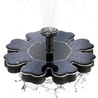 Petal Shaped Solar Water Fountain for Landscape Decoration