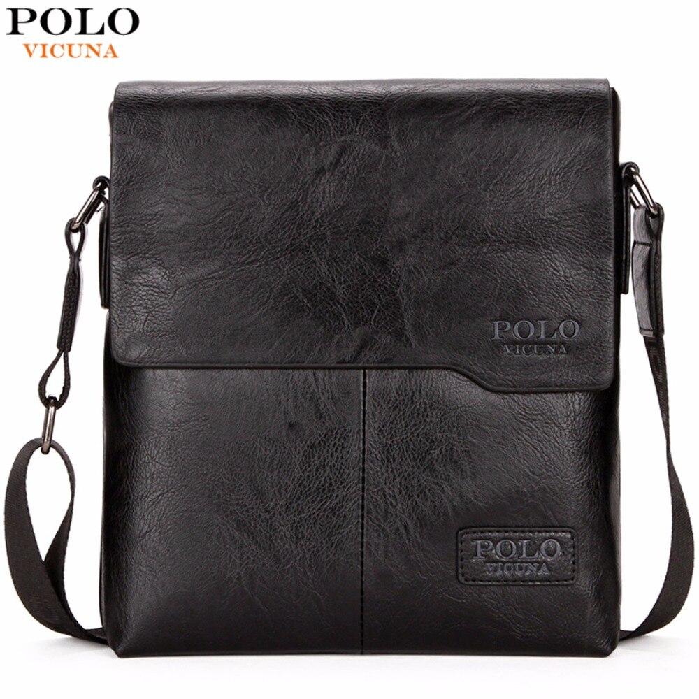 VICUNA POLO Men Shoulder Bag Classic Brand Men Bag Vintage Style Casual Men Messenger Bags Promotion