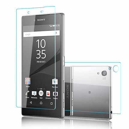 2PCS Front+Back 9H Premium Tempered Glass Cover For Sony Xperia Z Z1 Z2 Z3 Z4 Z5 Compact  M4 M5 9H Screen Protector Film Case
