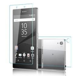 2 pçs frente + traseira 9 h premium capa de vidro temperado para sony xperia z z1 z2 z3 z4 z5 estojo compacto m4 m5 9 h filme protetor de tela