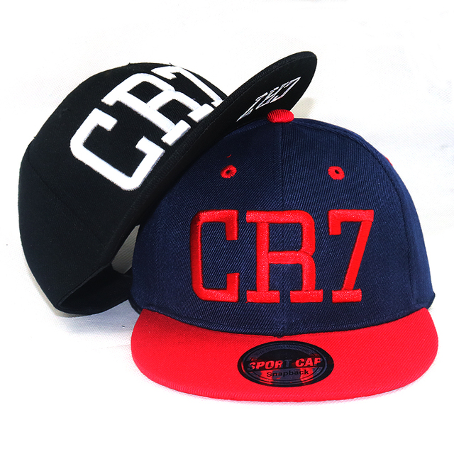 Fashion Children baseball cap football Star Ronaldo CR7 3D Embroidery Kids  snapback Hat Bone football caps df96a43f2ad