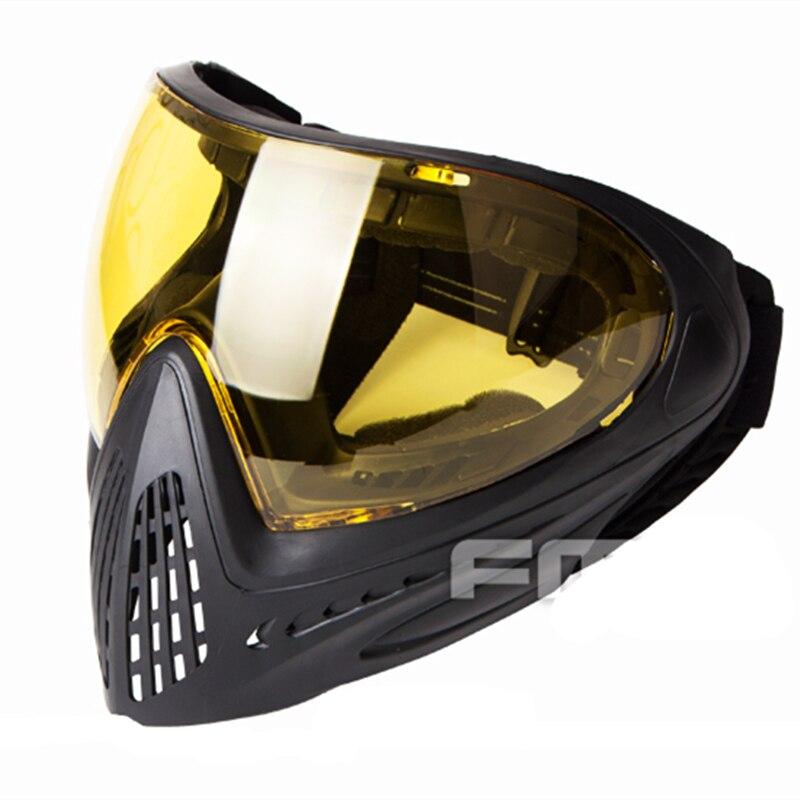 F1 Paintball Safety Anti fog Goggle Full Face Mask Black Mask