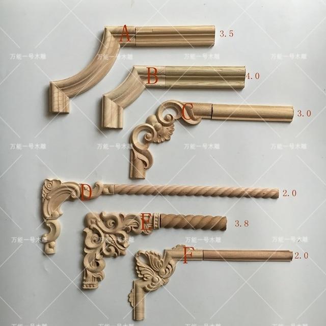4 unids lote apliques de madera molduras de madera for Molduras de madera