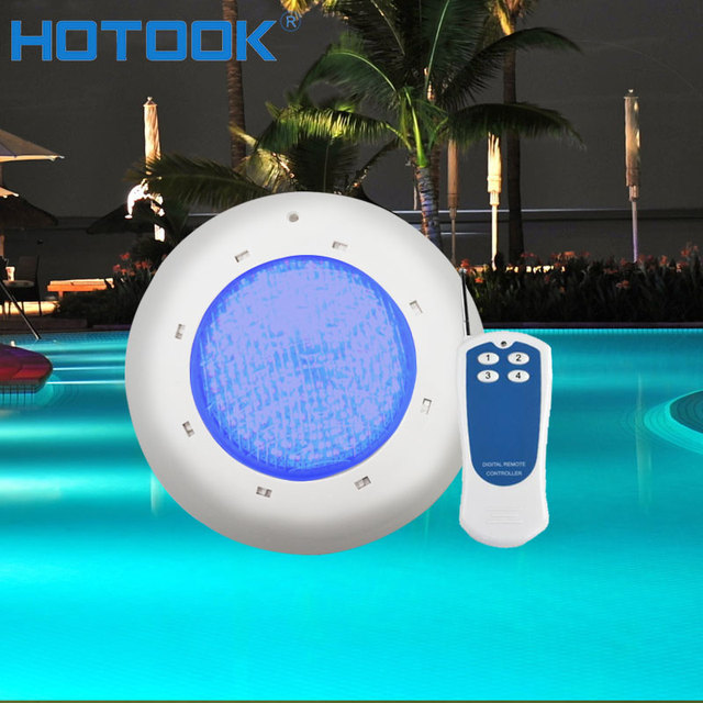 US $62.01 55% OFF HOTOOK Underwater Lights LED RGB IP68 Waterproof Swimming  Pool Lights AC12V Wall Mounted Submersible Pond Light Fountain Lamp -in ...