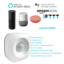 Motion PIR Sensor Detector WIFI Movement Smart Life Tuya Wireless domotica Home Security System Google home mini