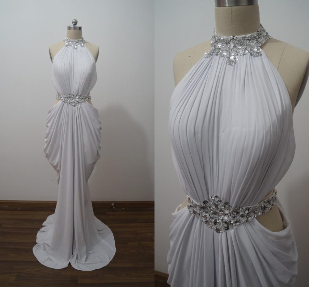 ILoveWedding Venta Caliente Trompeta/Sirena Cuello Alto Vestido de Noche Moldead