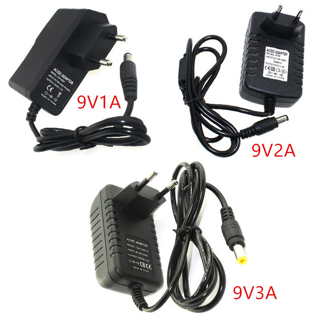 Power <font><b>Adapter</b></font> DC 9 V 1A 2A 3A Versorgung Einstellbare 9 V Volt 9 V Power <font><b>Adapter</b></font> Versorgung <font><b>220V</b></font> zu <font><b>12V</b></font> Led Licht Lampe Power <font><b>Adapter</b></font> versorgung image