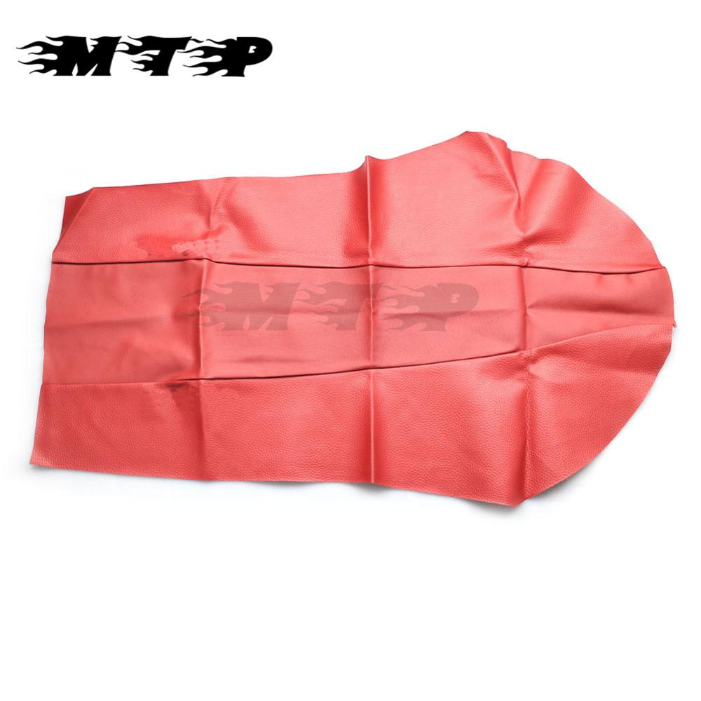 Motorcycle Red Leather Seat Cushion Guard Sun Proof Seat Covers Motorbike For Honda XR250 XR400 XR 250 XR 400